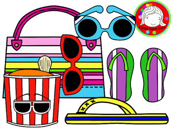 Summer Theme Clipart (Personal & Commercial Use)