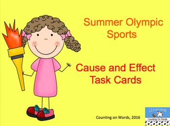 Summer Olympic Cause and Effect Task Cards