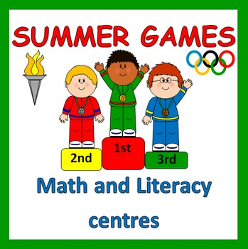 Summer Olympic Games Math and Literacy centres- RIO 2016