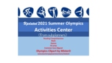 Summer Olympics 2016 Activities Center