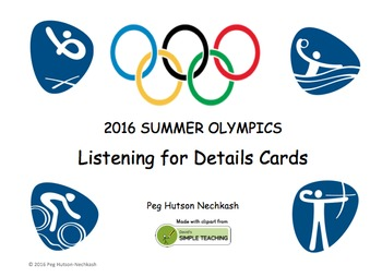 Summer Olympics 2016: Listening for Details Cards