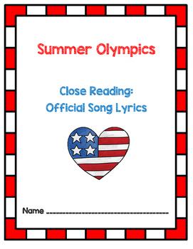 Summer Olympics 2016 - Rio - Close Reading Activity With Lyrics