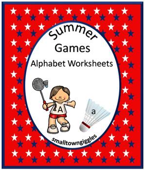 Summer Games NO PREP Alphabet Worksheets Kindergarten Morn