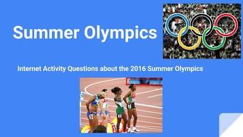 Summer Olympics Internet Questions Assignment