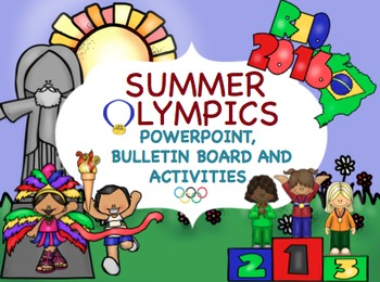Summer Olympics Power Point- Pennent Banner and Writing Pr