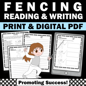 Summer Olympics Sports 2016 FENCING  Reading & Writing Activities