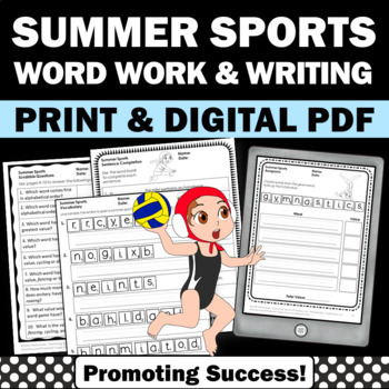 Summer Olympics Sports 2016 Scrabble Literacy Word Work &