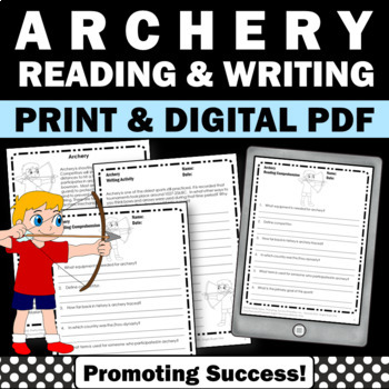 Summer Olympics Sports ARCHERY Reading Comprehension & Wri