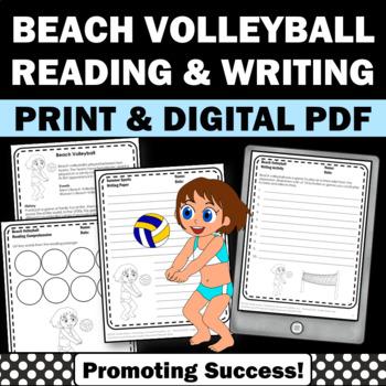 Summer Olympics Sports BEACH VOLLEYBALL Reading & Writing