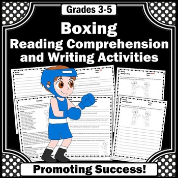 Summer Olympics Sports BOXING Reading & Writing Activities