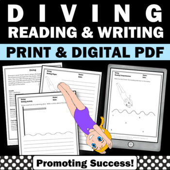 Summer Olympics Sports DIVING Reading & Writing Activities