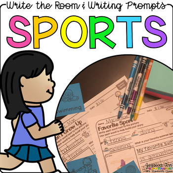 Sports - Write the Room Writing Prompts {Print on Cardstoc