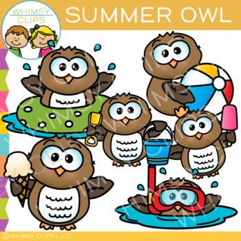 Summer Owl Clip Art