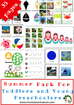 Summer Pack For Toddlers and Young Preschoolers