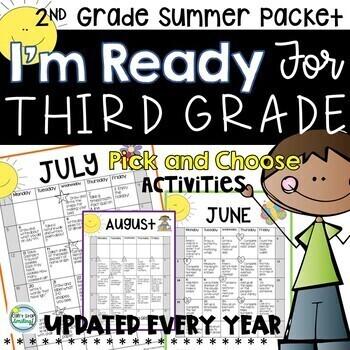 Summer Packet 2nd Grade with Summer Calendar ~ Get Ready f