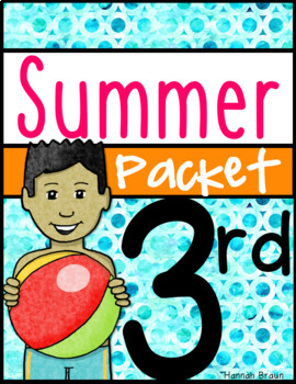 Summer Review Activities Packet for 3rd Grade