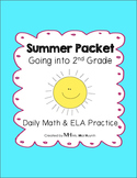Summer Review Packet - Going into 2nd Grade