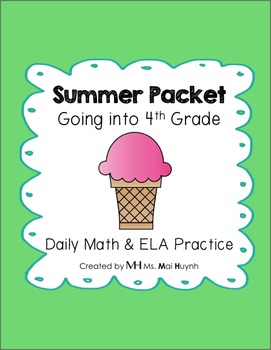 Summer Review Packet - Going into 4th Grade