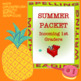 Summer Packet - Incoming 1st Graders
