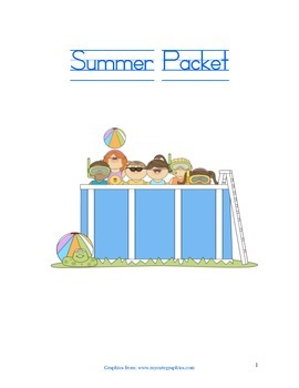 Summer Packet for Incoming Students