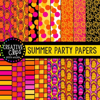 Summer Party Papers {Creative Clips Digital Clipart}