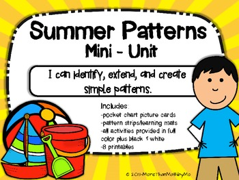 Summer Patterns Mini-Unit {black & white activities includ