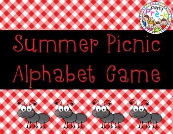 Summer Picnic Alphabet Game