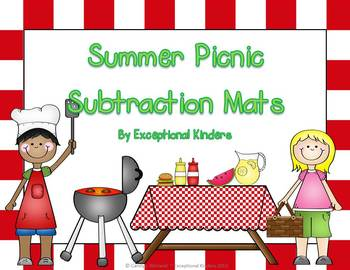 Summer Picnic Subtraction Mats