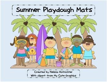 Summer PlayDough Mats