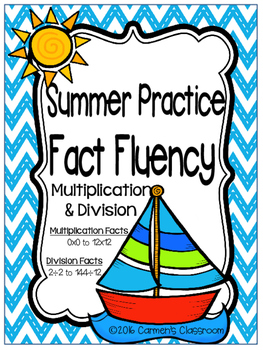Summer Practice Multiplication & Division Fact Fluency Practice