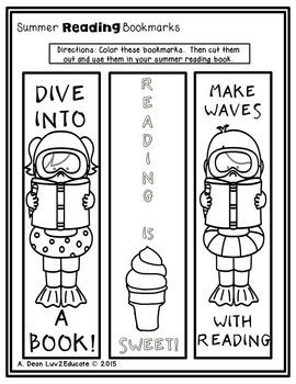 Fun Summer Reading Bookmarks