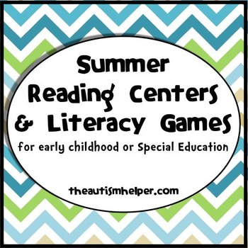 Summer Reading Centers and Literacy Games for Special Education