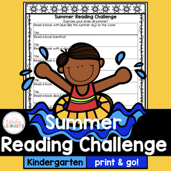 Summer Reading Challenge for kindergarten with book list