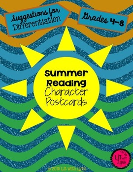 Summer Reading Character Postcards