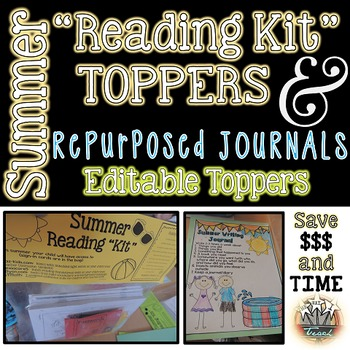 Summer Reading Kit:  Editable Topper and Writing Journal Covers