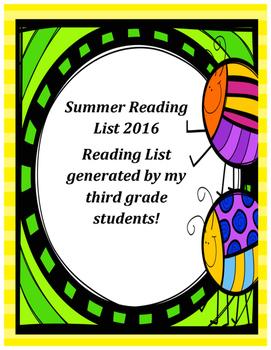 Summer Reading List 2016: Third Grade Recommendations