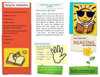 Summer Reading Parent Brochure