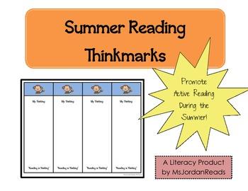 Summer Reading Thinkmarks {FREE}