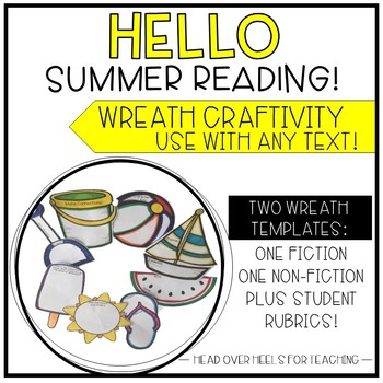 Summer Reading Wreath Craftivity {Use with any fiction or
