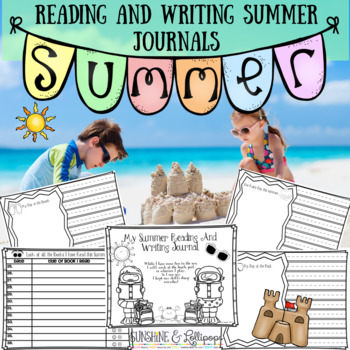 Summer School Summer Reading & Writing Journals for K-2 to