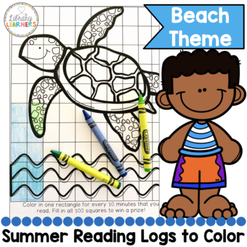 Summer Reading printable read and color freebie