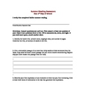 Summer Required Reading Assessment Sheet