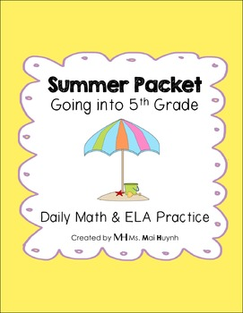 Summer Review Packet - Going into 5th Grade