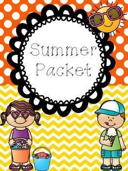 Summer Review Packet (kindergarten)