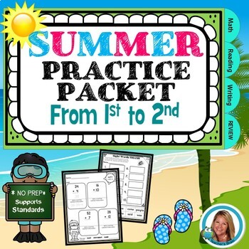 Summer Practice Packet From 1st grade to 2nd