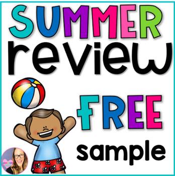 Summer Review Printables K-1 FREEBIES