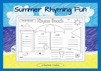 Summer Rhyming Fun
