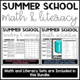 Summer School Math and Literacy Bundle!