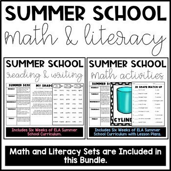 Summer School Math and Literacy Bundle!