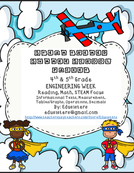 Summer School STEAM Engineering Themed Week 4th and 5th Grades